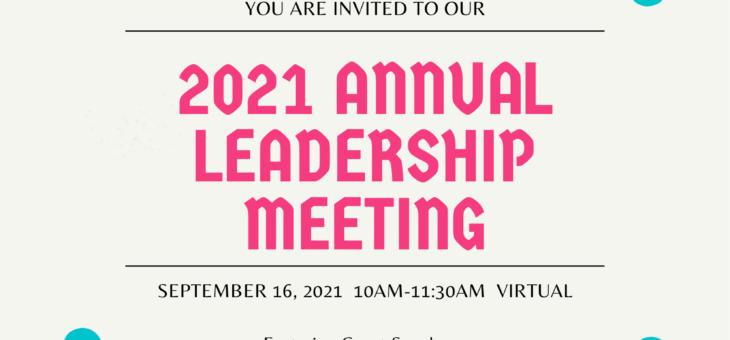 2021 Annual Leadership Meeting